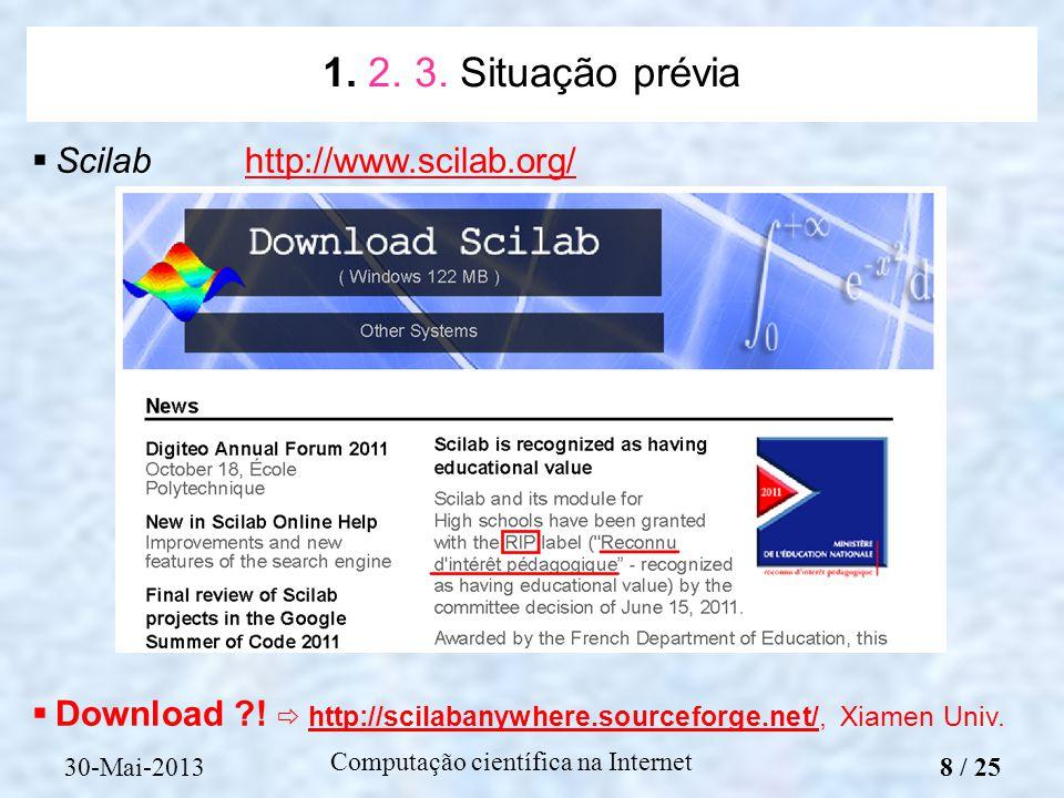 Computação científica na Internet Scilabhttp://www.scilab.org/http://www.scilab.org/ Download ?! http://scilabanywhere.sourceforge.net/, Xiamen Univ.h