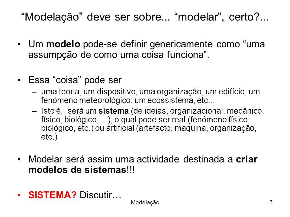 Modelação3 Modelação deve ser sobre...modelar, certo?...