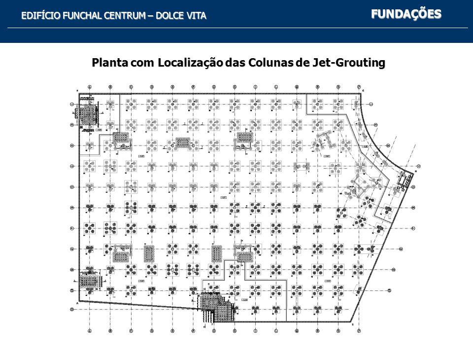 EDIFÍCIO FUNCHAL CENTRUM – DOLCE VITA FUNDAÇÕES Planta com Localização das Colunas de Jet-Grouting