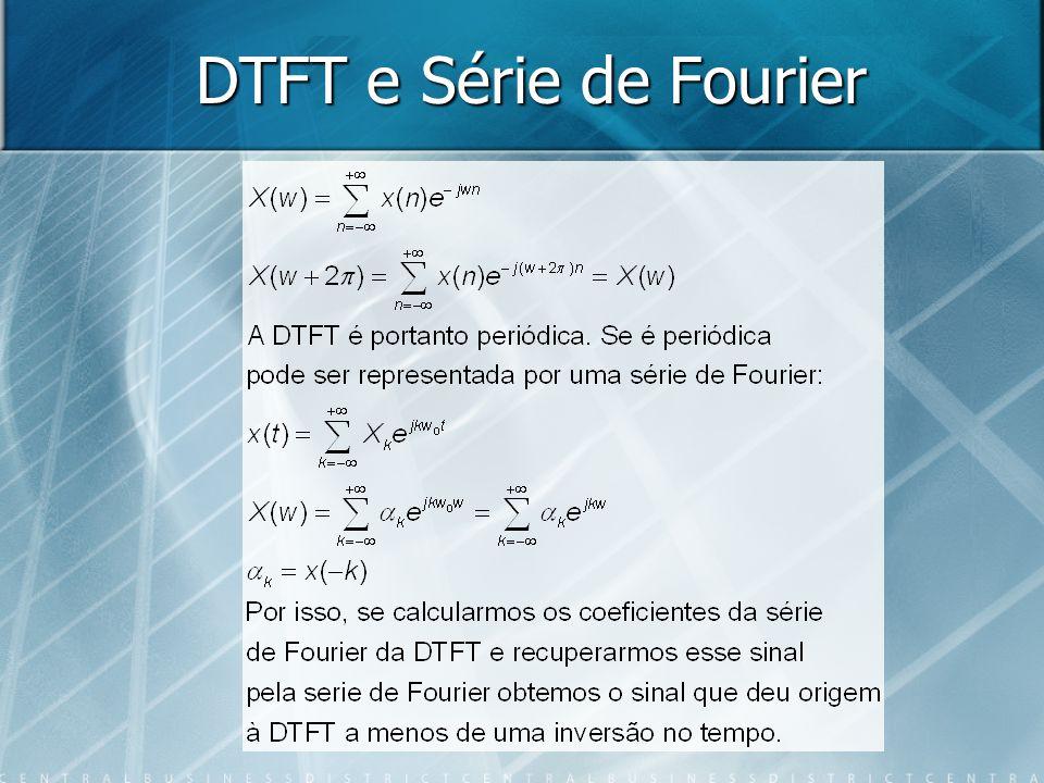 DTFT e Série de Fourier