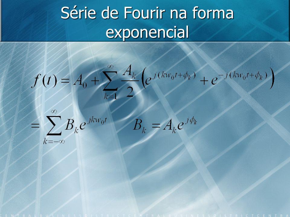 Série de Fourir na forma exponencial