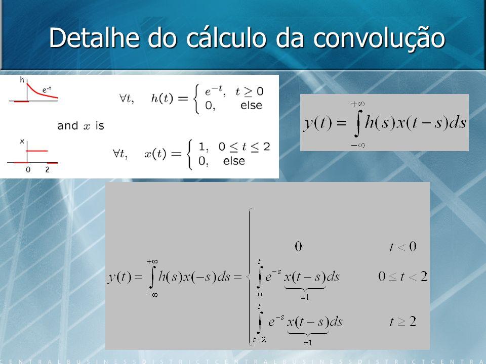 Detalhe do cálculo da convolução