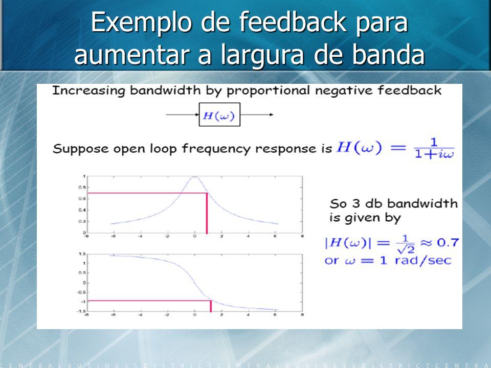 Exemplo de feedback para aumentar a largura de banda