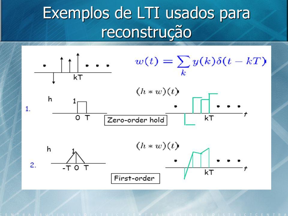 Exemplos de LTI usados para reconstrução