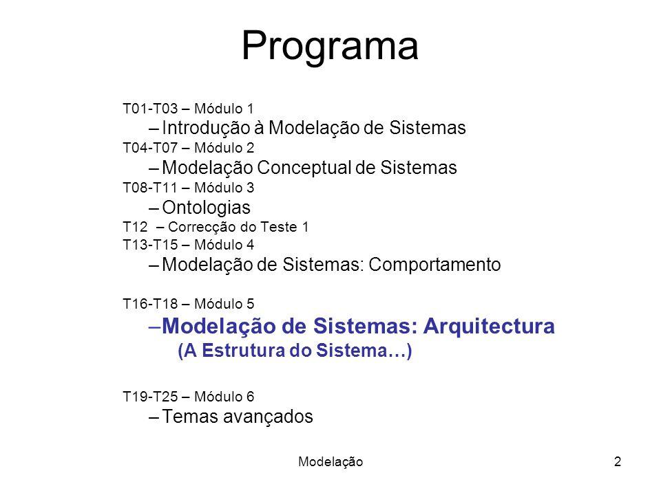 Modelação da estrutura de sistemas em UML e SysML 3Modelação