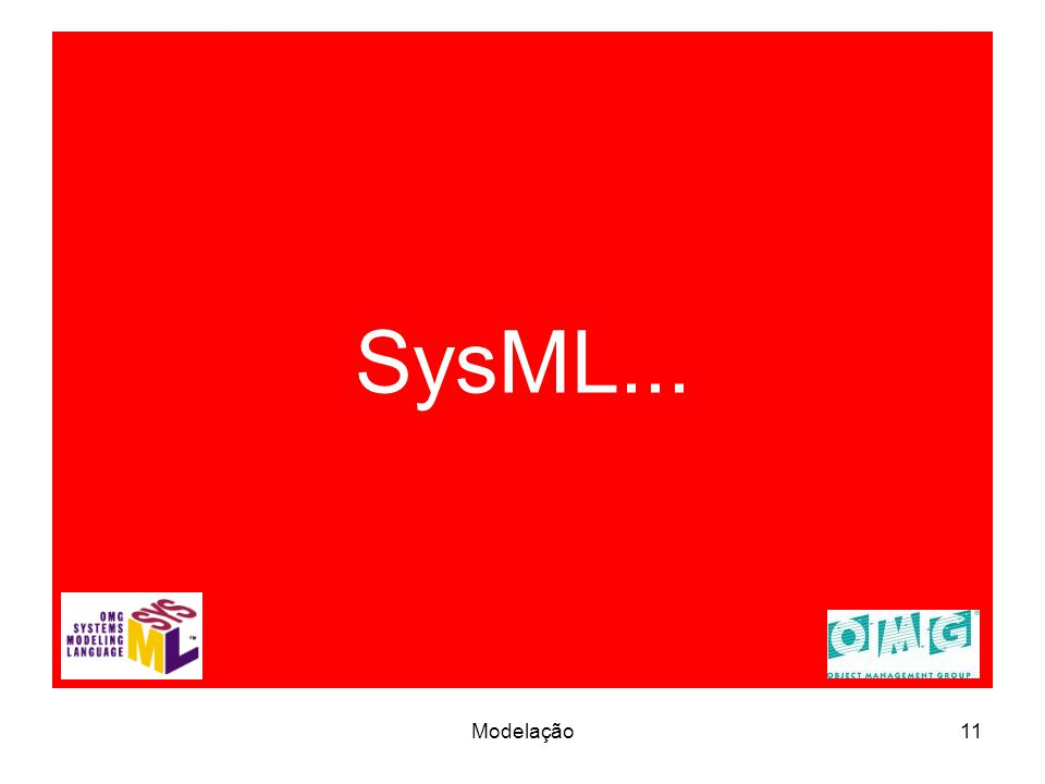 SysML... 11Modelação