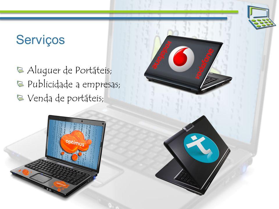 Serviços Aluguer de Portáteis; Publicidade a empresas; Venda de portáteis;