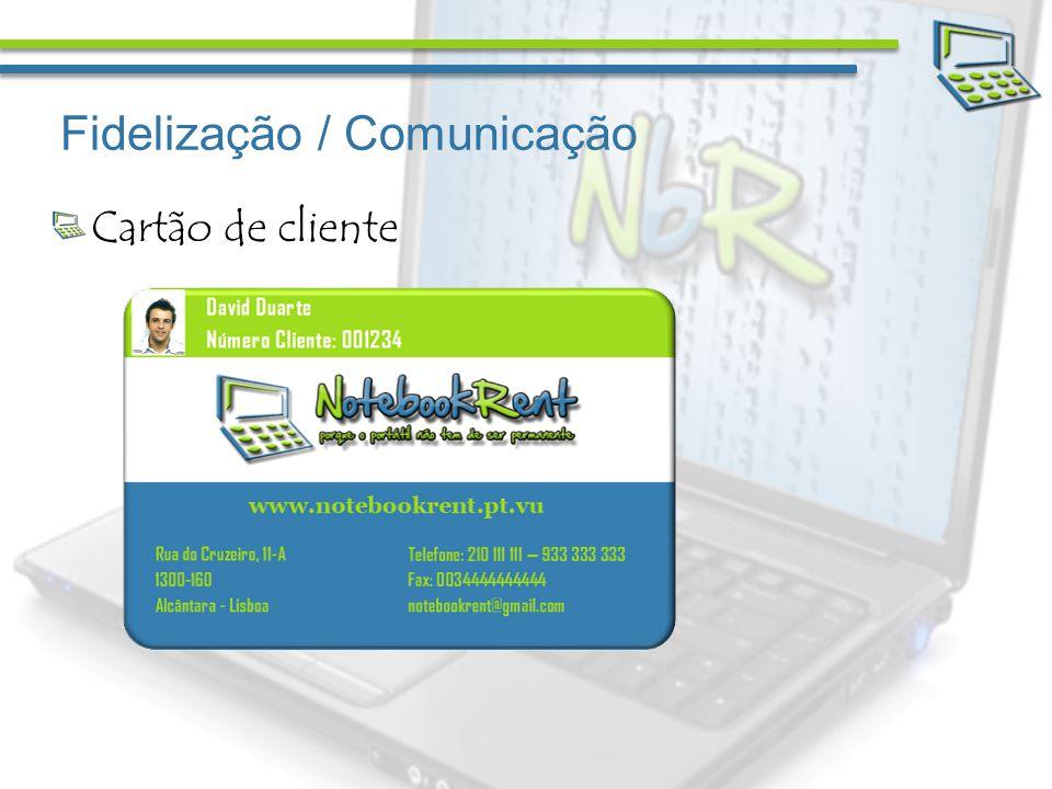 Fidelização / Comunicação Cartão de cliente