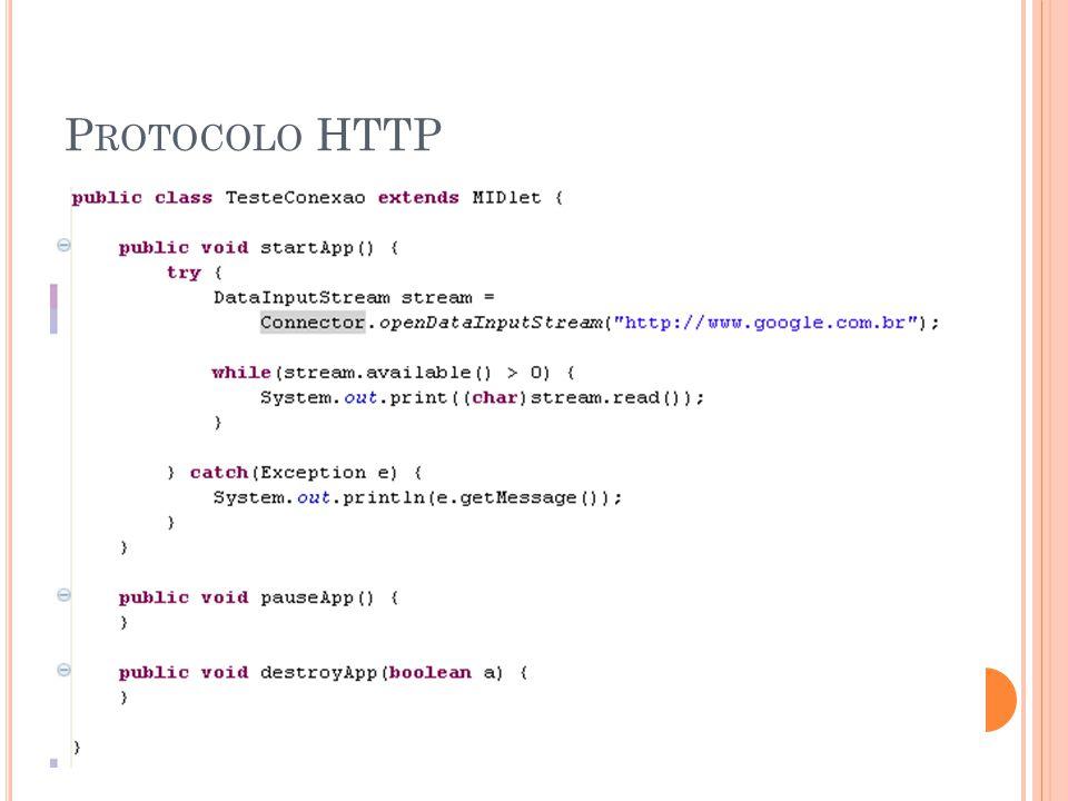 P ROTOCOLO HTTP