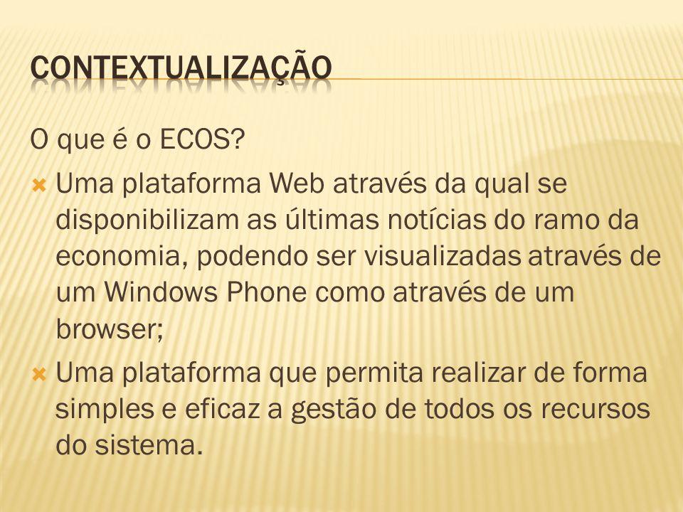 Esquema do sistema: Administrador/ Jornalista Fonte de informação Utilizadores Página Web Aplicação WM Servidor