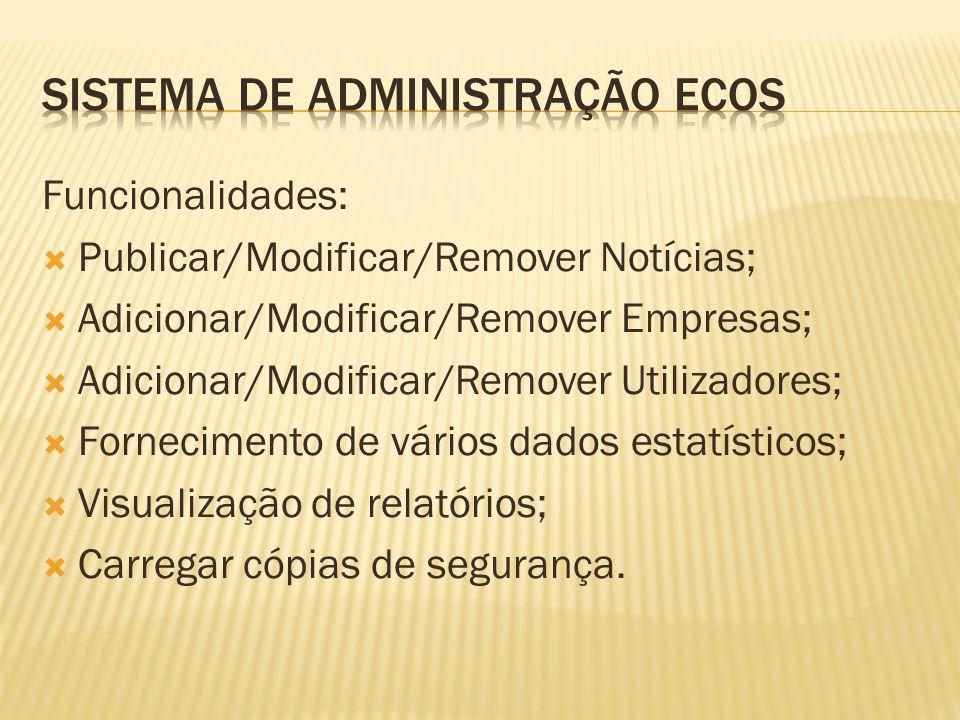 1.Construção da base de dados e respectivas stored procedures; 2.