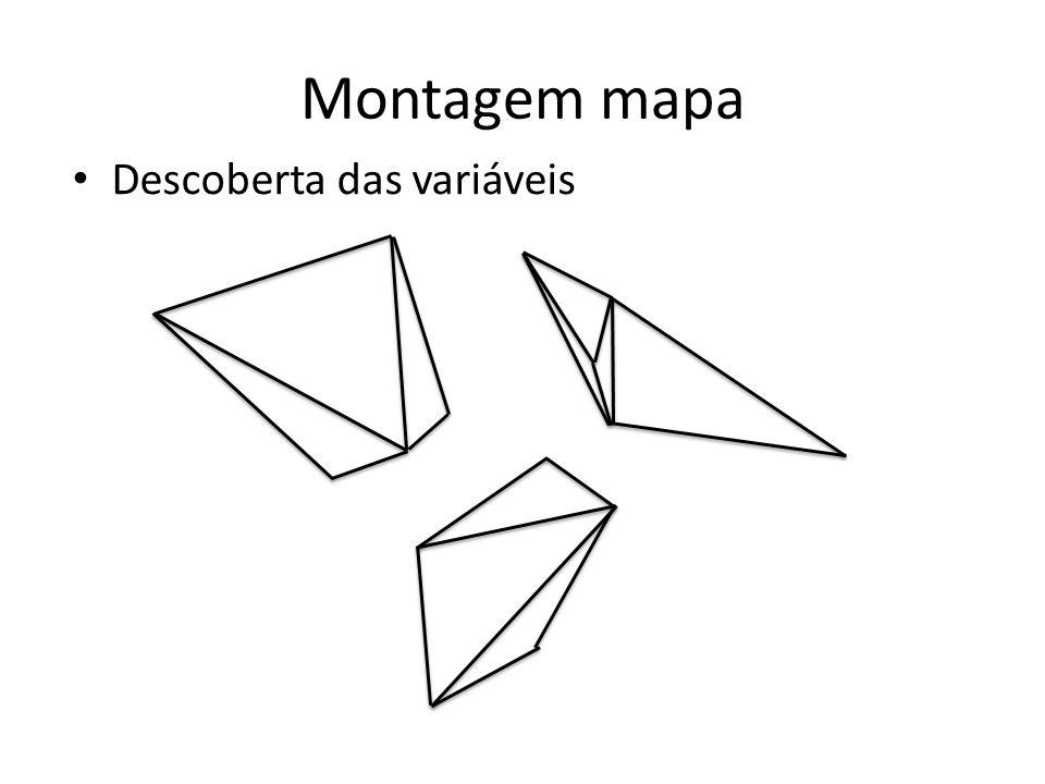 Montagem mapa Descoberta das variáveis