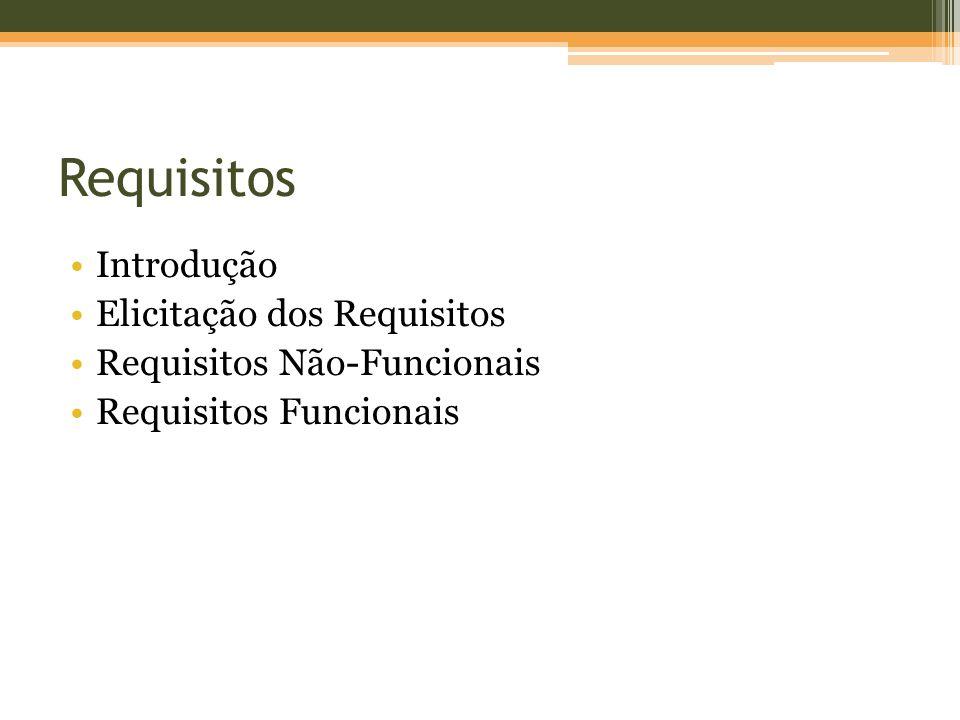 Introdução Elicitação dos Requisitos Requisitos Não-Funcionais Requisitos Funcionais