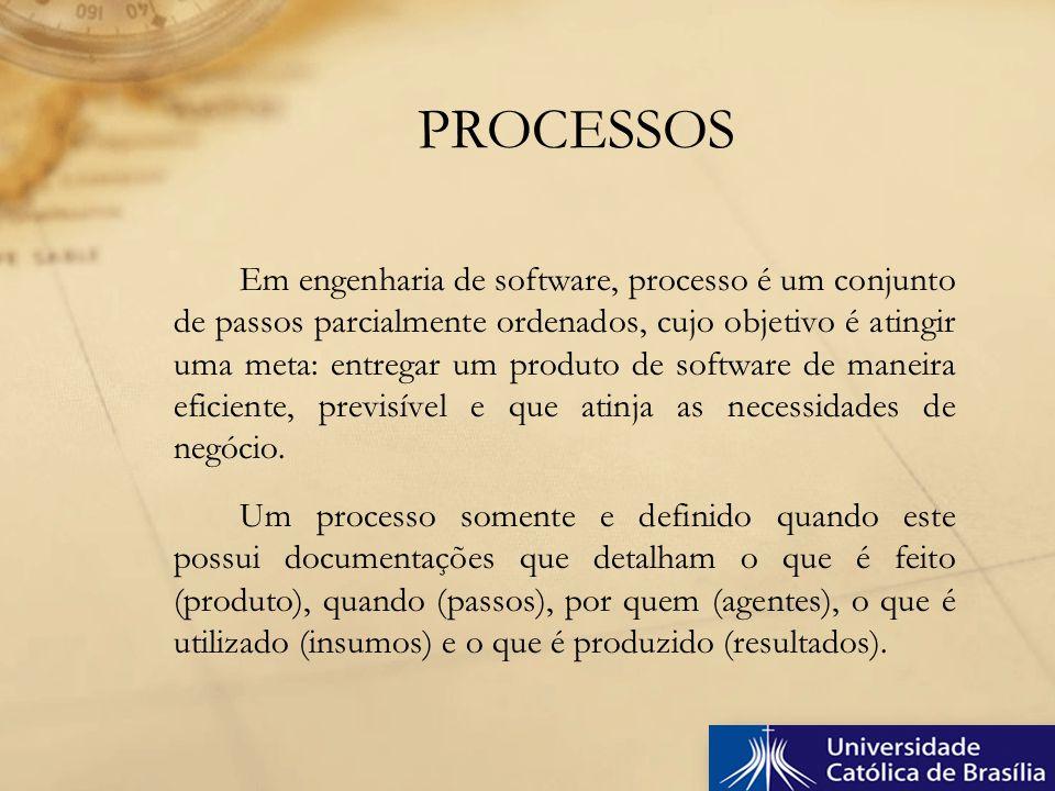 Em engenharia de software, processo é um conjunto de passos parcialmente ordenados, cujo objetivo é atingir uma meta: entregar um produto de software