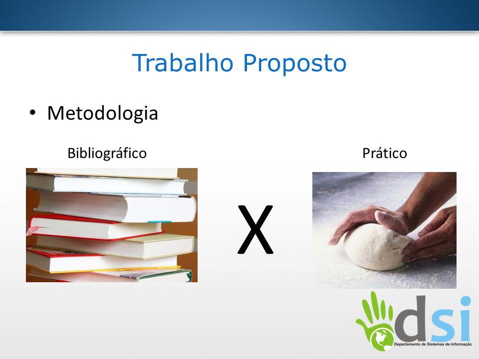 Trabalho Proposto Metodologia Bibliográfico Prático X