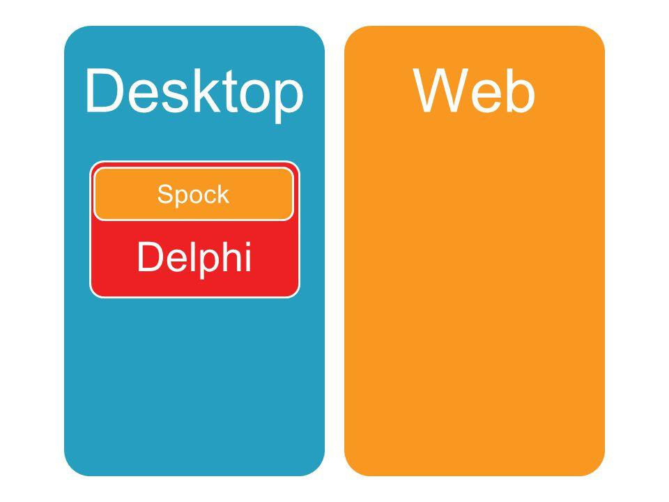 Desktop Delphi Lua Web PHPJavascript Spock