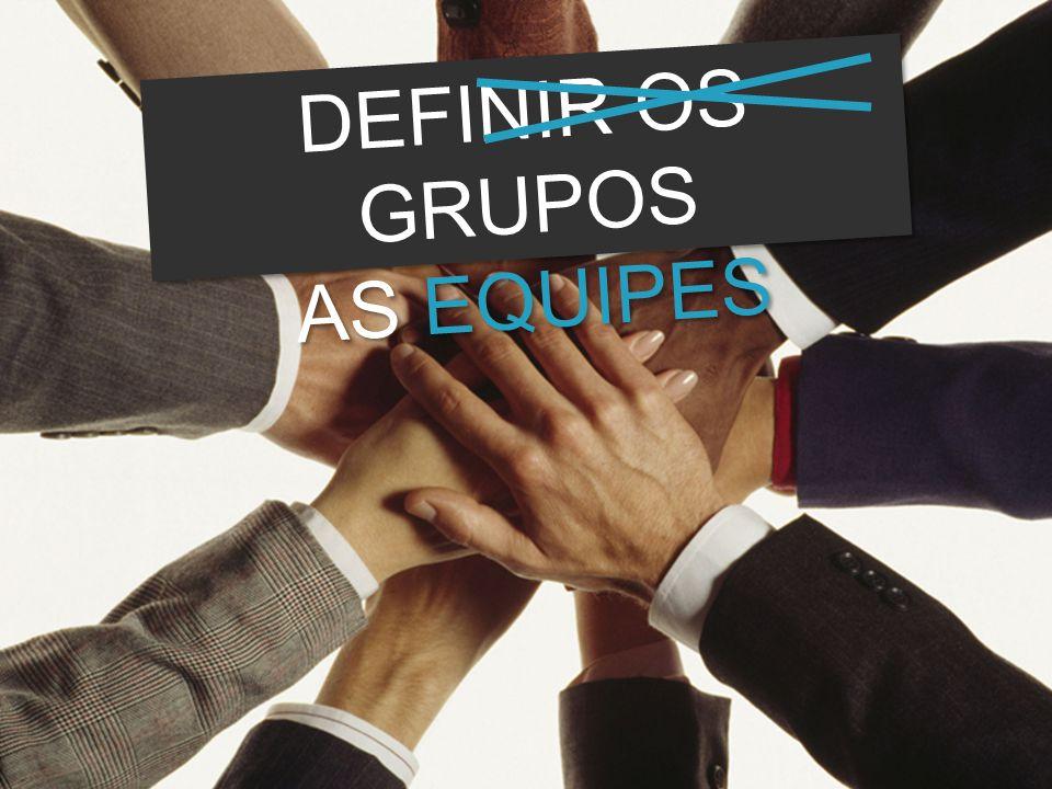 DEFINIR OS GRUPOS AS EQUIPES DEFINIR OS GRUPOS AS EQUIPES