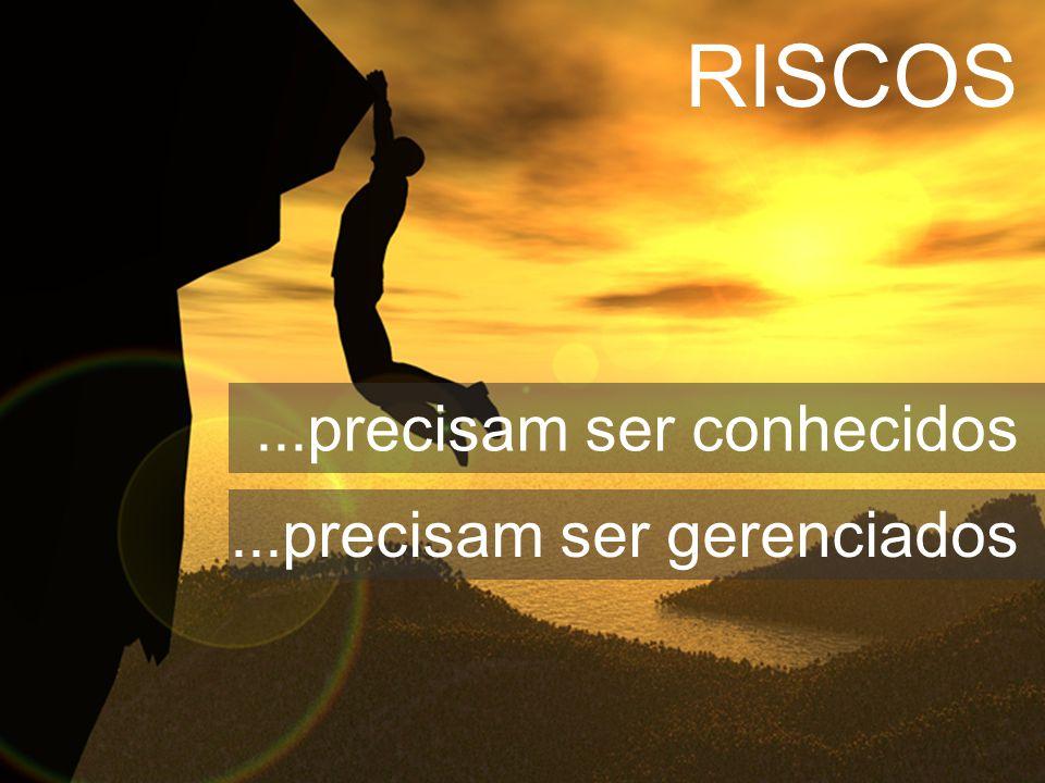 RISCOS...precisam ser conhecidos...precisam ser gerenciados