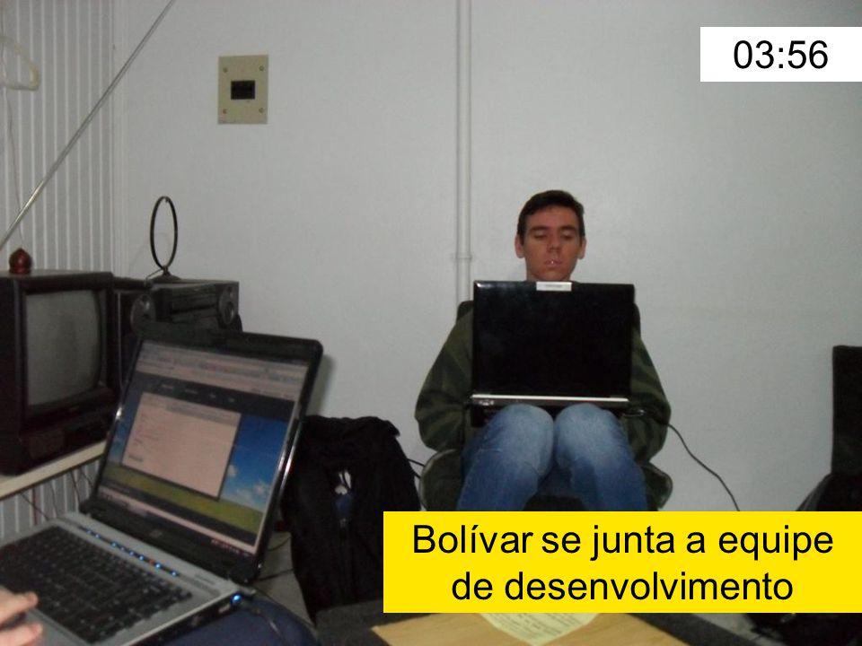 03:56 Bolívar se junta a equipe de desenvolvimento