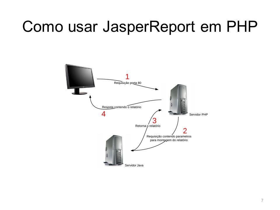 Como usar JasperReport em PHP 7