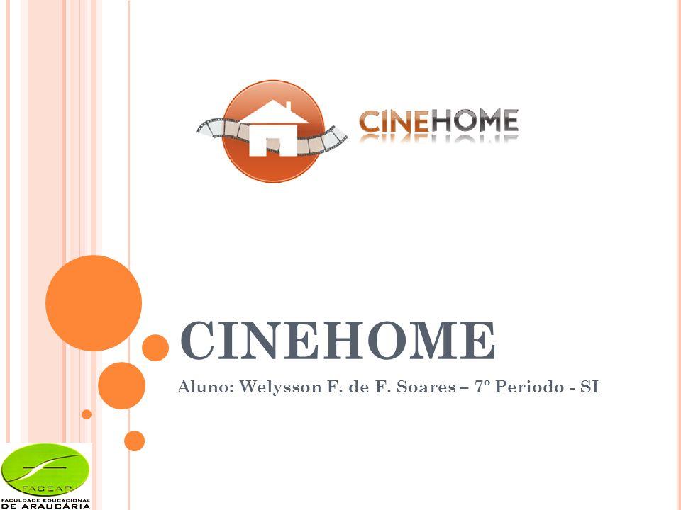 CINEHOME Aluno: Welysson F. de F. Soares – 7º Periodo - SI