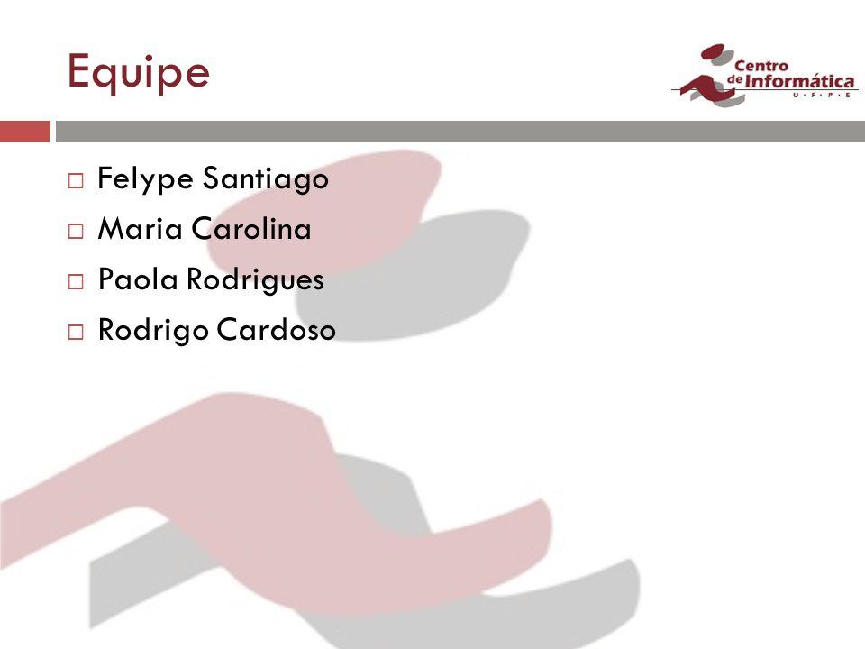 Equipe Felype Santiago Maria Carolina Paola Rodrigues Rodrigo Cardoso