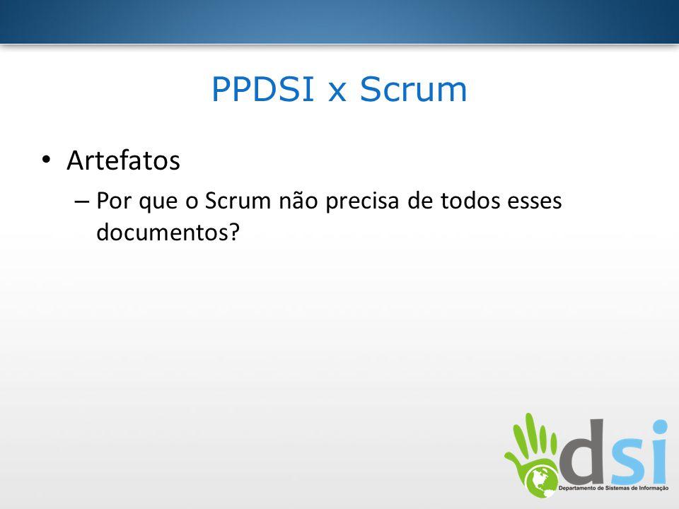 PPDSI x Scrum Artefatos – Por que o Scrum não precisa de todos esses documentos?