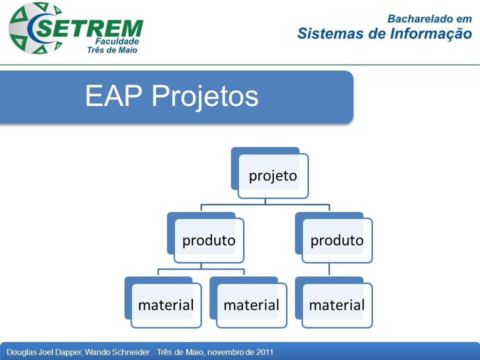 Douglas Joel Dapper, Wando Schneider. Três de Maio, novembro de 2011 EAP Projetos projetoprodutomaterial produtomaterial