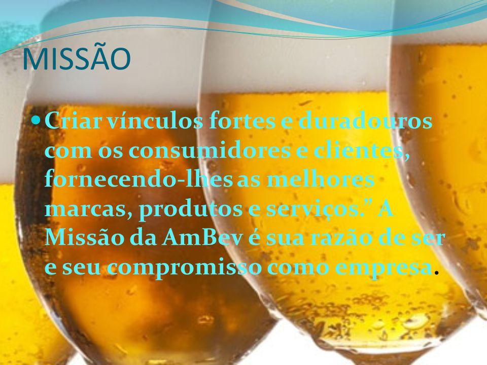 VISÃO Ser a melhor empresa de bebidas do mundo em um mundo melhor.
