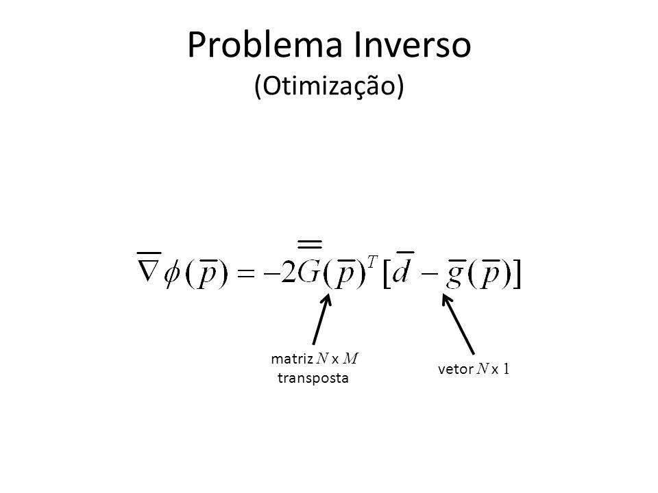 Problema Inverso linear (Mínimos Quadrados) matriz N x M vetor N x 1 vetor M x 1