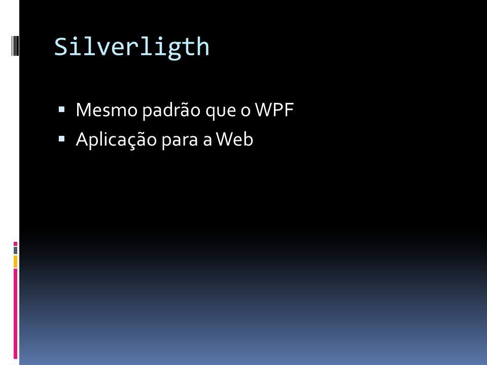 Silverligth Mesmo padrão que o WPF Aplicação para a Web