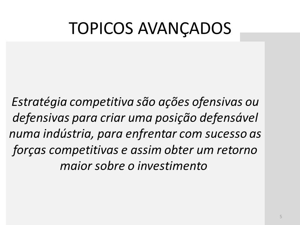 Estratégia competitiva são ações ofensivas ou defensivas para criar uma posição defensável numa indústria, para enfrentar com sucesso as forças compet