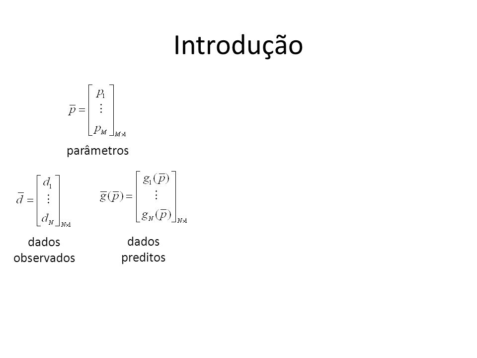 Introdução dados observados dados preditos parâmetros