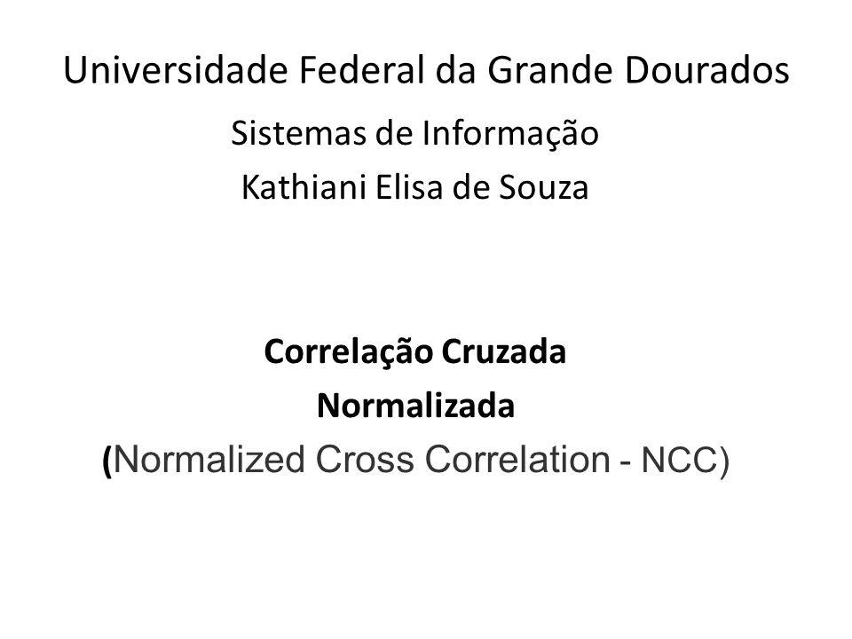 Universidade Federal da Grande Dourados Sistemas de Informação Kathiani Elisa de Souza Correlação Cruzada Normalizada ( Normalized Cross Correlation - NCC)
