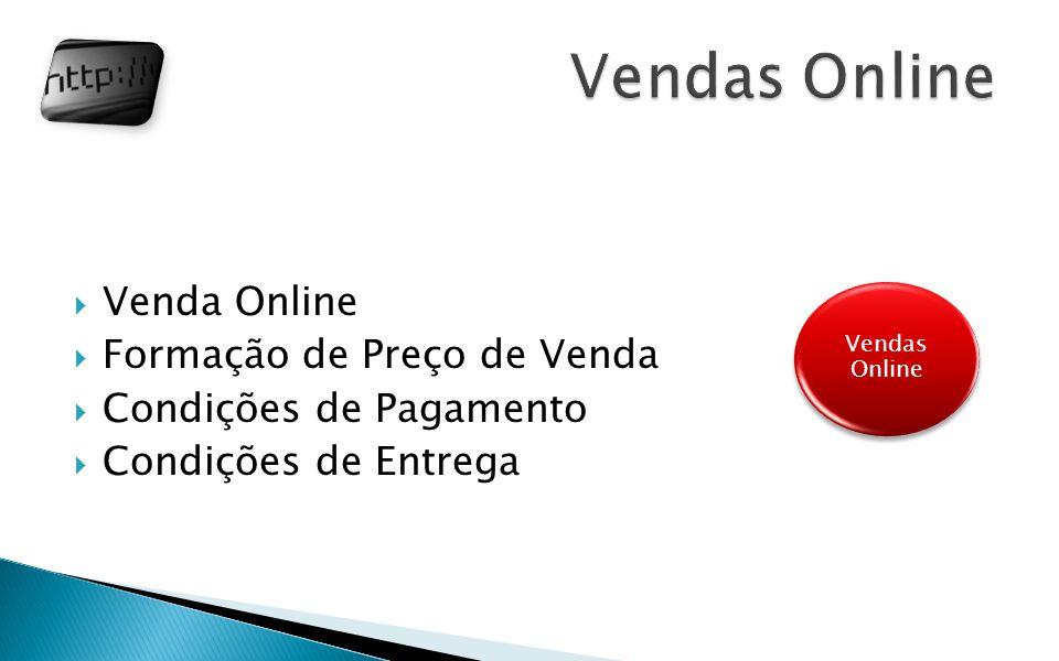 Venda Online Formação de Preço de Venda Condições de Pagamento Condições de Entrega Vendas Online