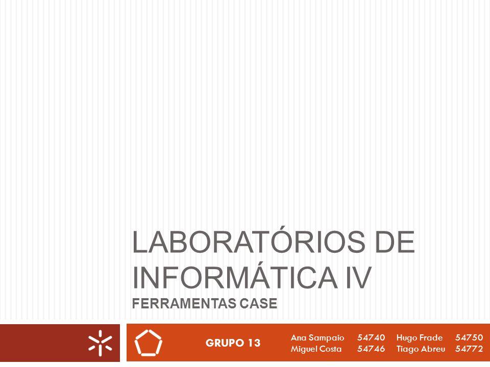 Conteúdos Laboratórios de Informática IV 2 O que é uma Ferramenta CASE.