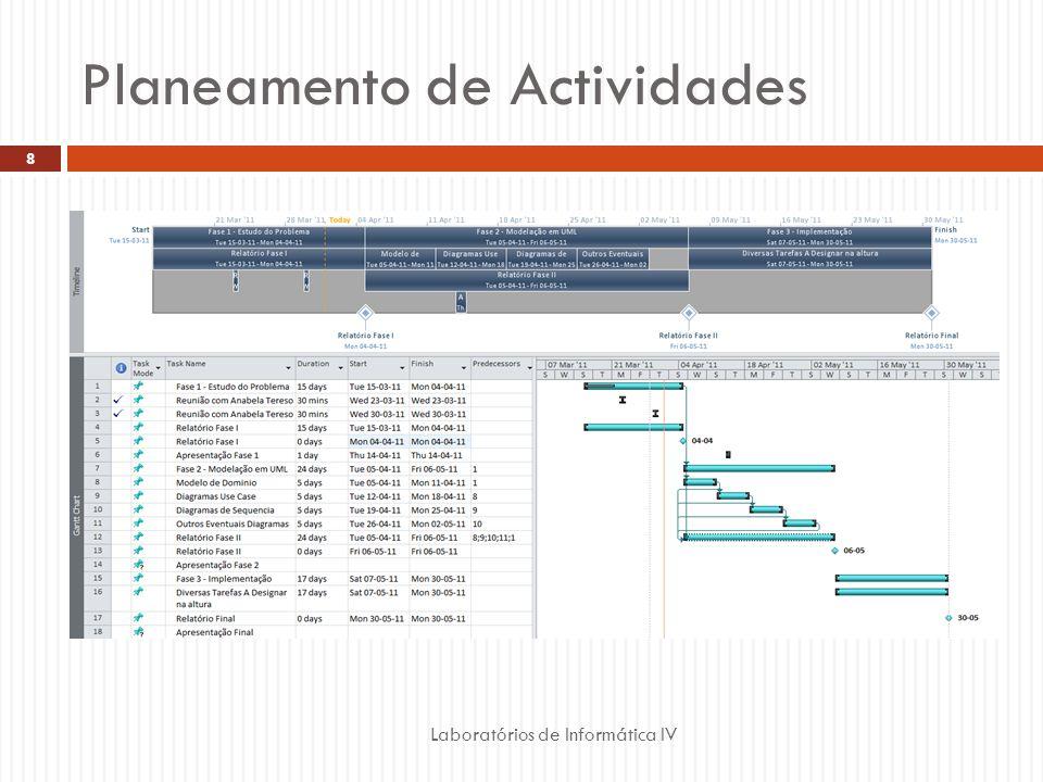 Planeamento de Actividades Laboratórios de Informática IV 8