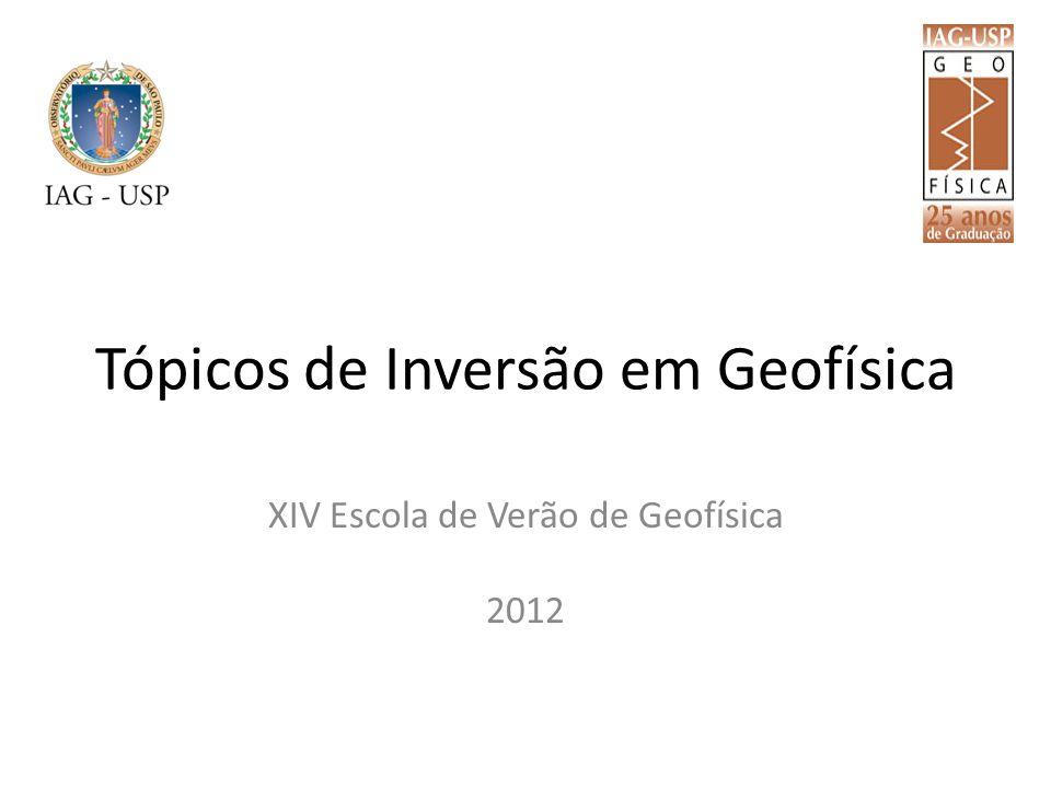 Tópicos de Inversão em Geofísica XIV Escola de Verão de Geofísica 2012