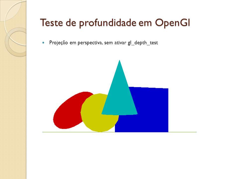 Teste de profundidade em OpenGl Projeção em perspectiva, sem ativar gl_depth_test