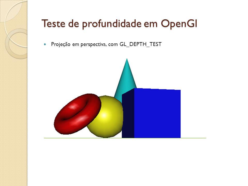 Teste de profundidade em OpenGl Projeção em perspectiva, com GL_DEPTH_TEST