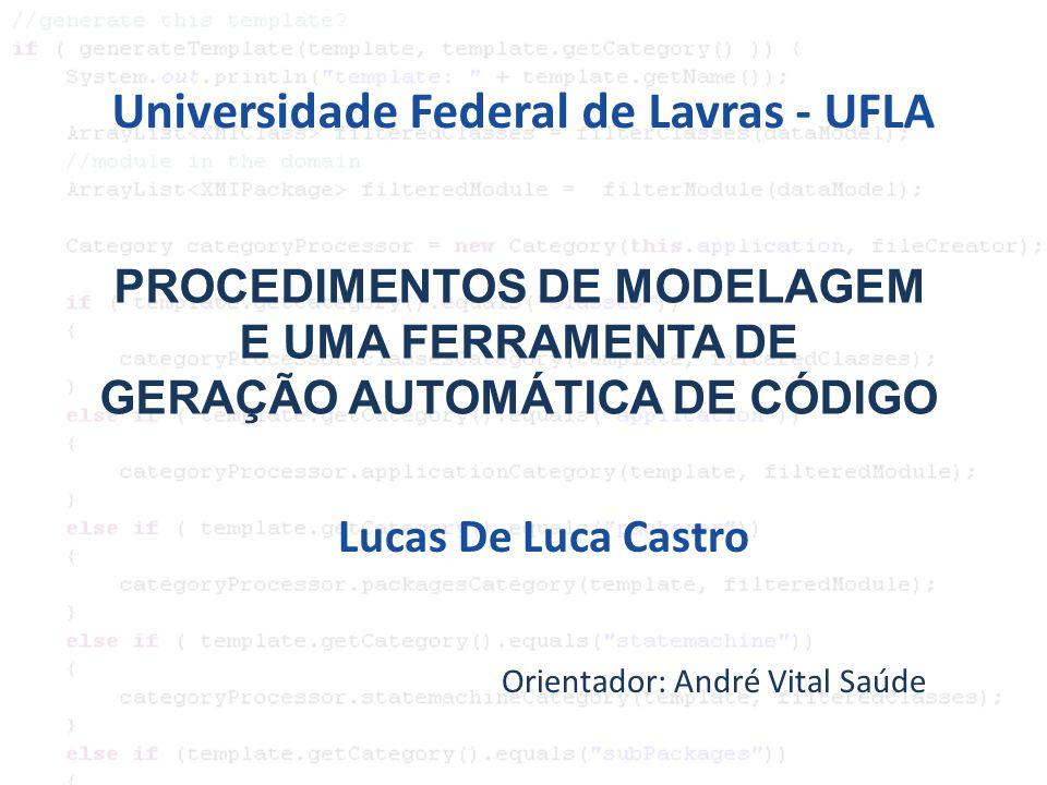 SUMÁRIO 1)INTRODUÇÃO 2)OBJETIVOS 3)REFERENCIAL TEÓRICO: 1)MODEL DRIVEN ARCHITECTURE (MDA) 2)GERADOR AUTOMÁTICO DE CÓDIGO 3)IGUASSU FRAMEWORK 4)MATERIAL E MÉTODOS 5)RESULTADOS 1)CODEGEN 2)BLUEBOX 3)PROCEDIMENTO DE MODELAGEM 6)CONCLUSÃO