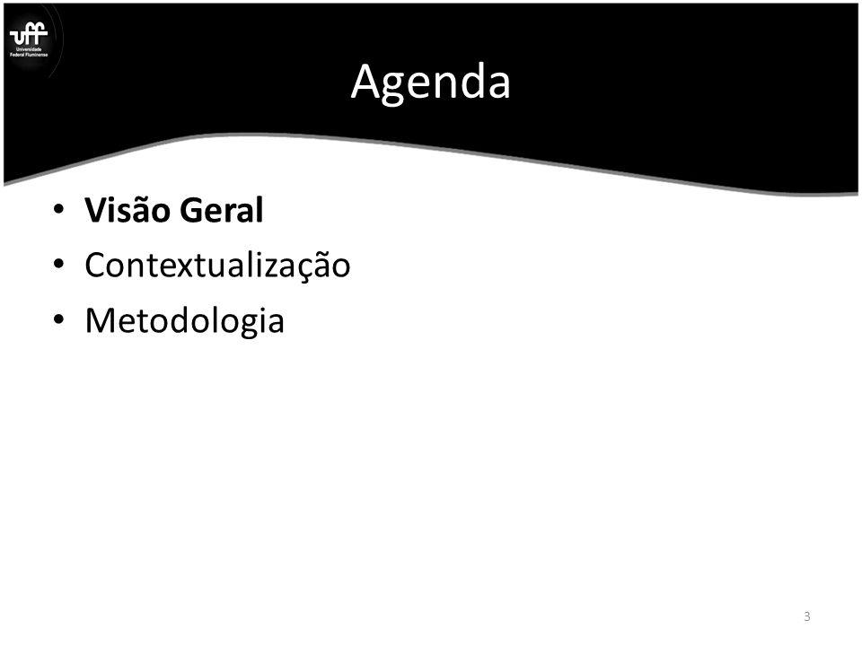 Agenda Visão Geral Contextualização Metodologia 3