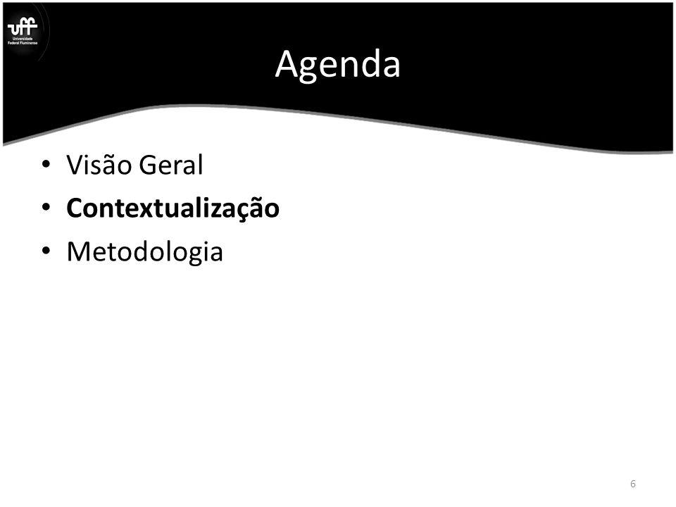 Agenda Visão Geral Contextualização Metodologia 6