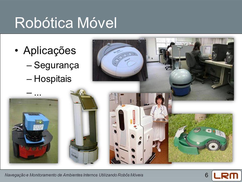 6 Robótica Móvel Aplicações –Segurança –Hospitais –... Navegação e Monitoramento de Ambientes Internos Utilizando Robôs Móveis