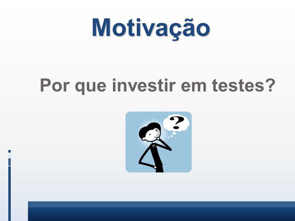 Motivação Por que investir em testes?