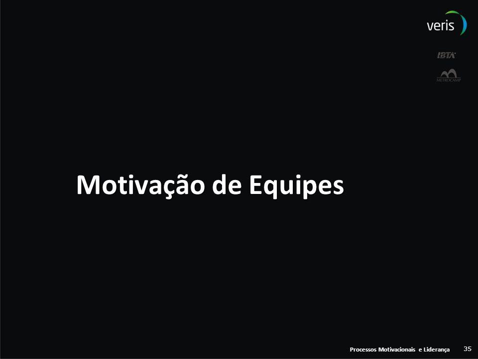 Processos Motivacionais e Liderança 35 Motivação de Equipes