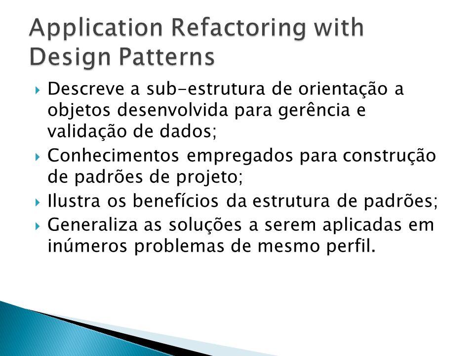 DANTAS, Alexandre, et.al. Suporte a Padrões no Projeto de Software.