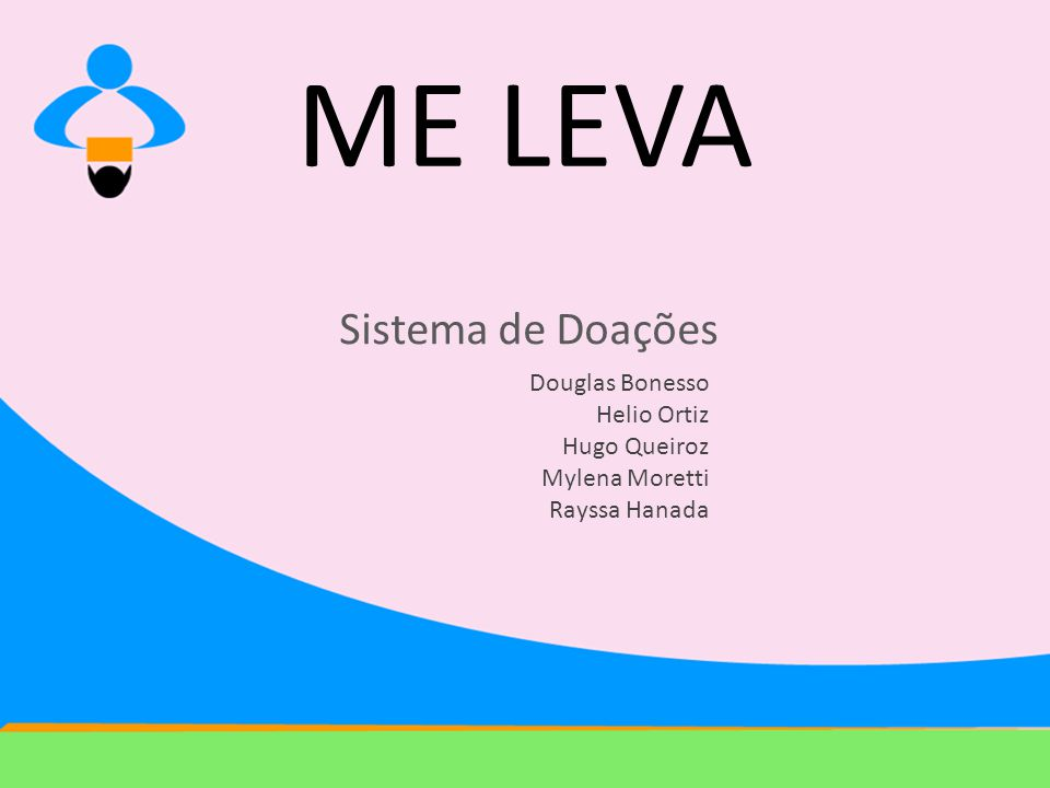 ME LEVA Sistema de Doações Douglas Bonesso Helio Ortiz Hugo Queiroz Mylena Moretti Rayssa Hanada