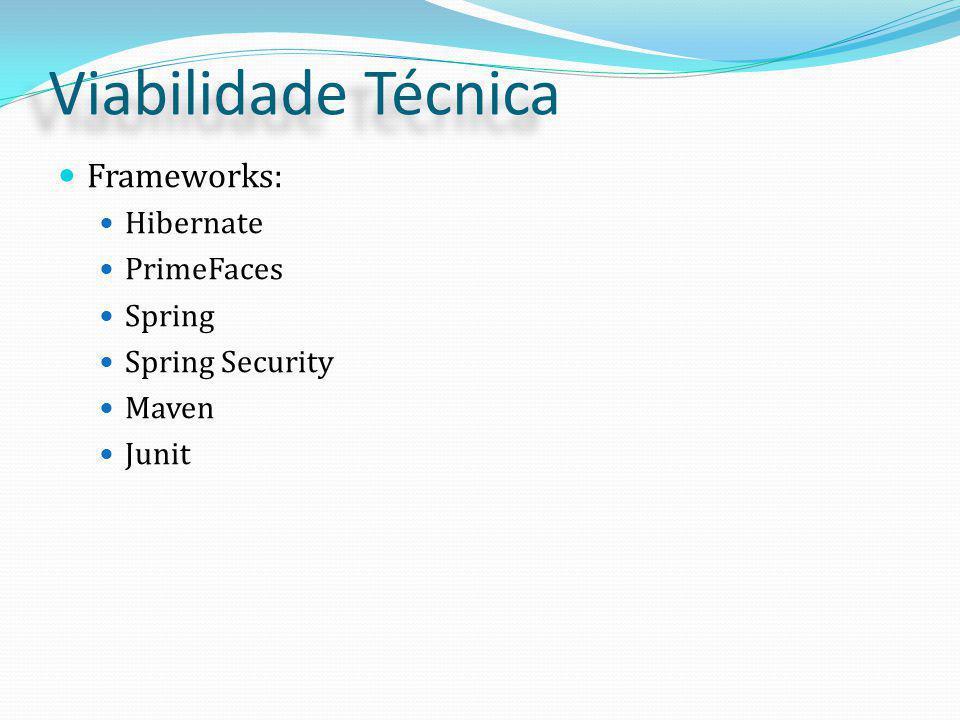 Frameworks: Hibernate PrimeFaces Spring Spring Security Maven Junit