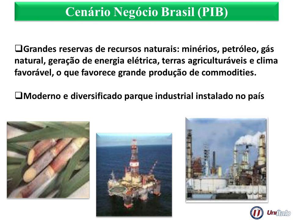 Grandes reservas de recursos naturais: minérios, petróleo, gás natural, geração de energia elétrica, terras agriculturáveis e clima favorável, o que f